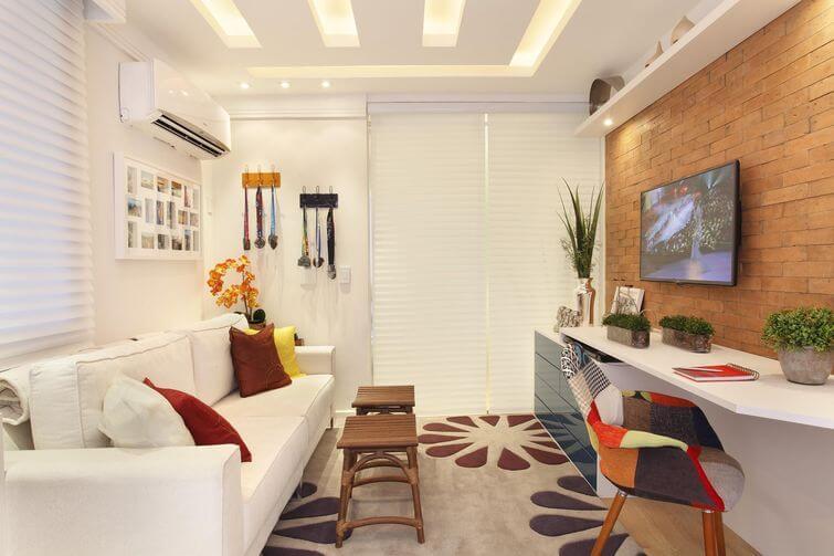 Decoração de casa alugada: Aposte nos tapetes para fazer diferente. Projeto por Cyntia Sabat.