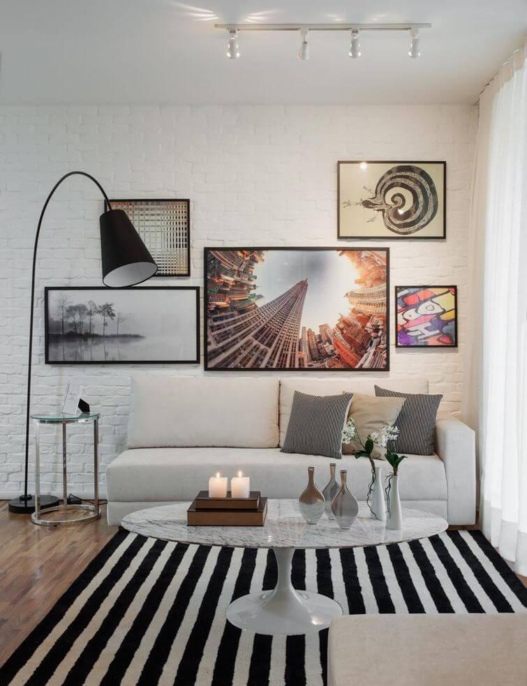 Decoração para casa alugada: perca o medo de furar as paredes. Projeto por Sesso & Dalanezi Arquitetura+Design.