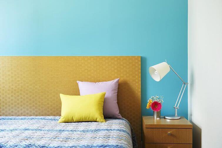 Decoração de casa alugada: Perca o medo de pintar as paredes. Projeto por Buji Decoração Reuso